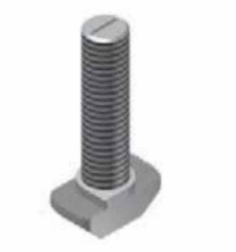 Hammerkopfschraube für T-Nuten, 10mm, niedrige Form, Stahl, verzinkt