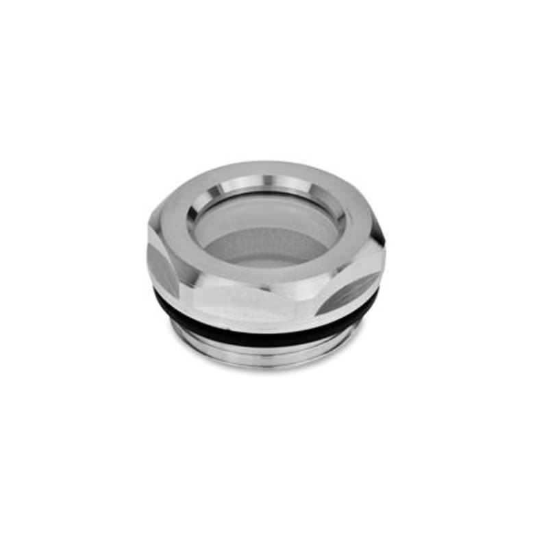 Ölschaugläser, Aluminium / Floatglas, beständig bis 100 °C, blank