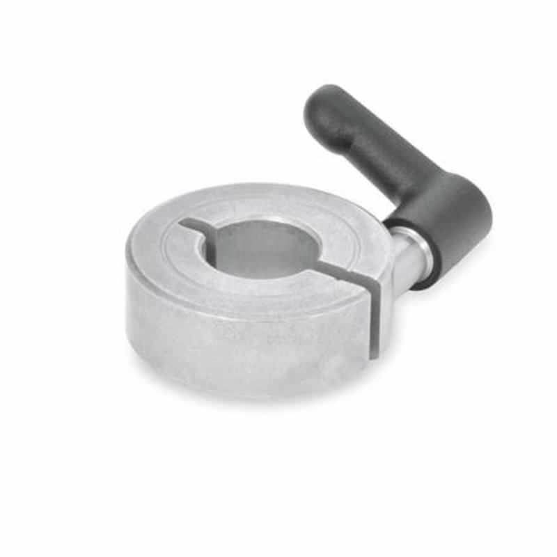 Geschlitzte Edelstahl-Stellringe mit verstellbarem Klemmhebel