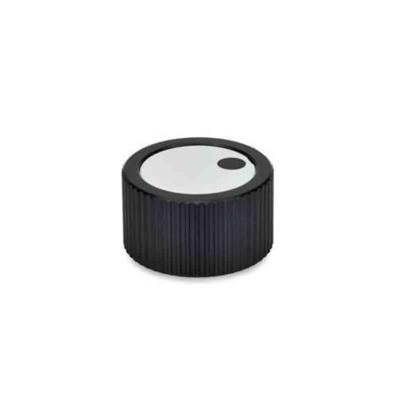 Drehknopf mit Spannzange, Aluminium, schwarz eloxiert