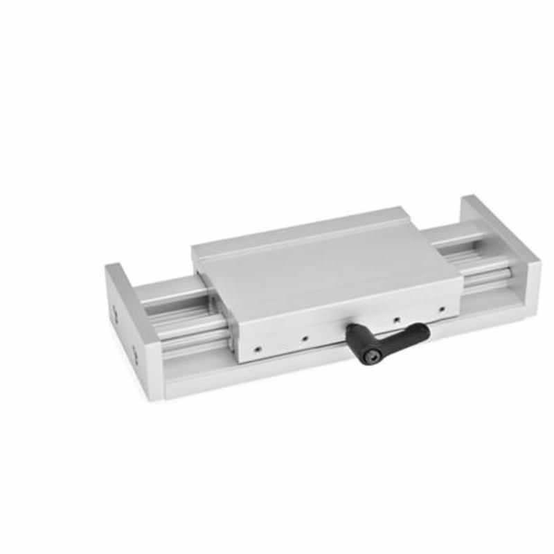 Verstellschlitten ohne Verstellspindel und Bedienelement, Aluminium