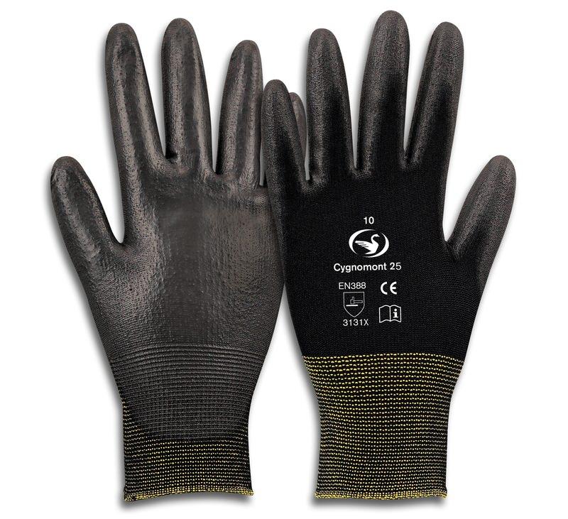 Montage-Feinstrick-Handschuh Cygnomont 25
