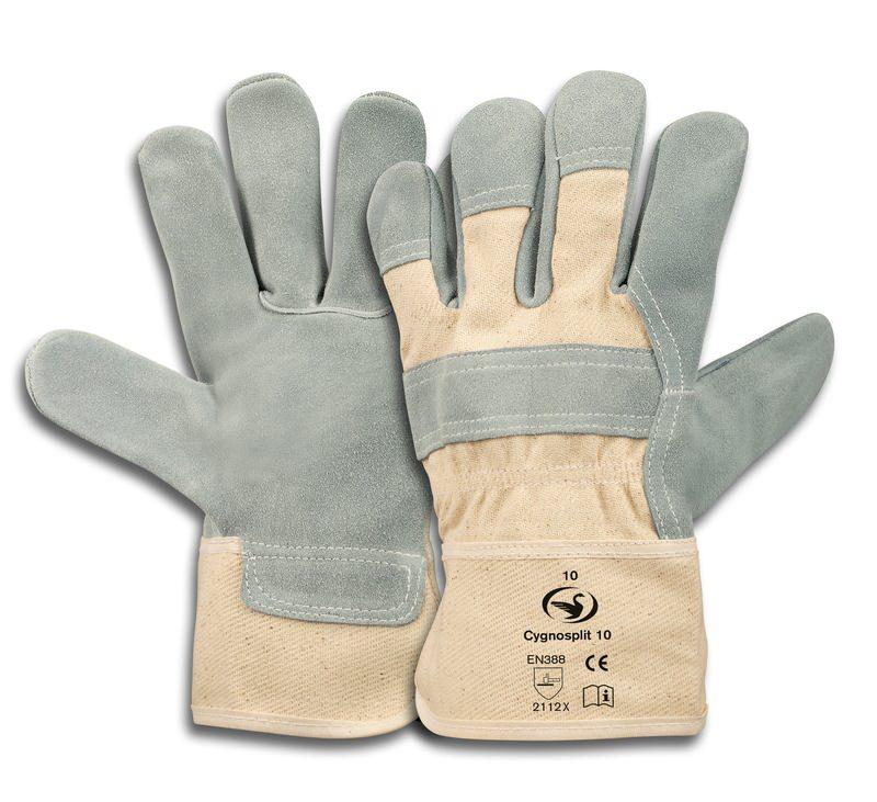 Rindspaltleder-Handschuh Cygnosplit 10, Größe 10