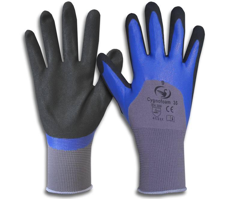 Montage-Feinstrick-Handschuh Cygnofoam 35