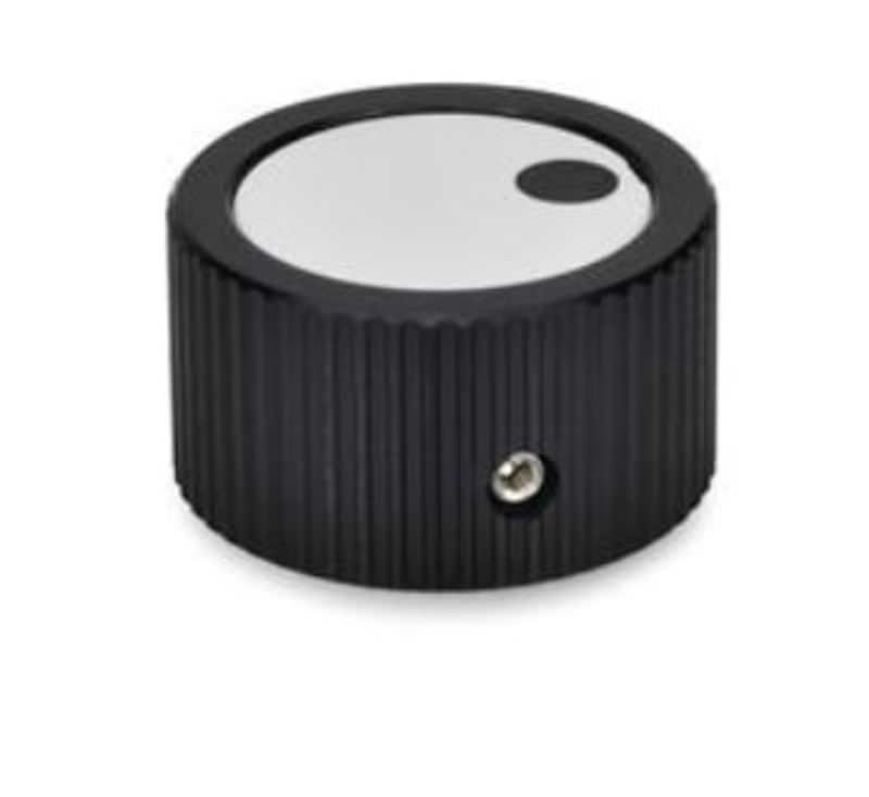 Drehknopf mit Druckschraube, Aluminium, schwarz eloxiert