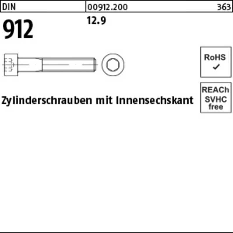 Zylinderschrauben mit Innensechskant (100 St.)