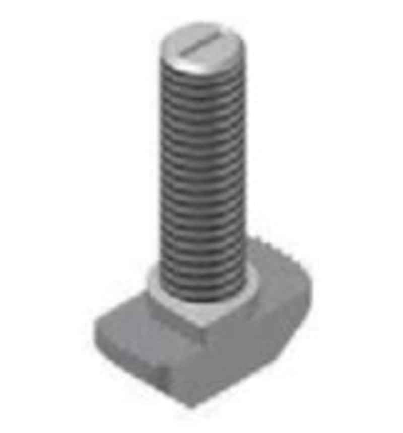 Hammerkopfschraube für T-Nuten, 8mm, niedrige Form, Stahl, verzinkt