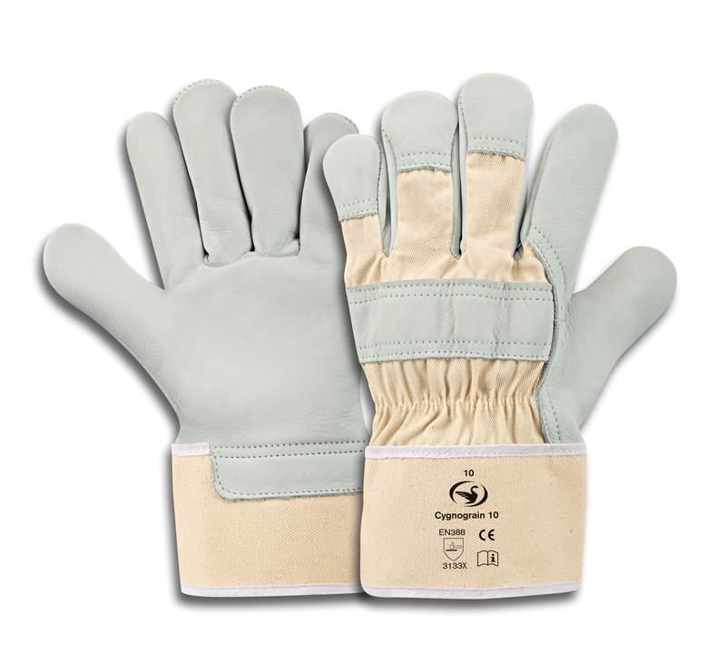 Rindnarbenleder-Handschuh Cygnograin 10, Größe 10