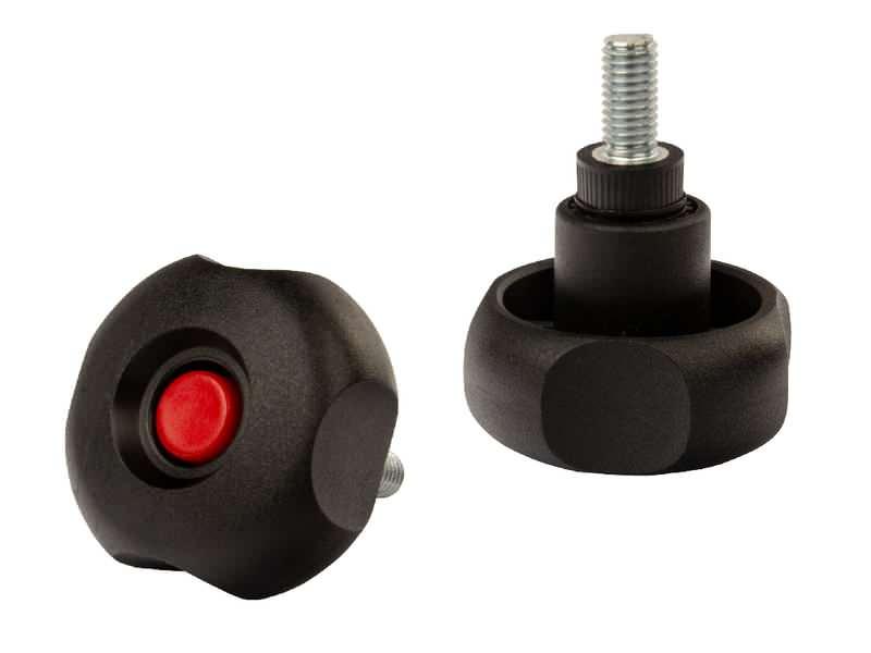 Sicherheits-Sterngriffschrauben mit 4 Griffmulden