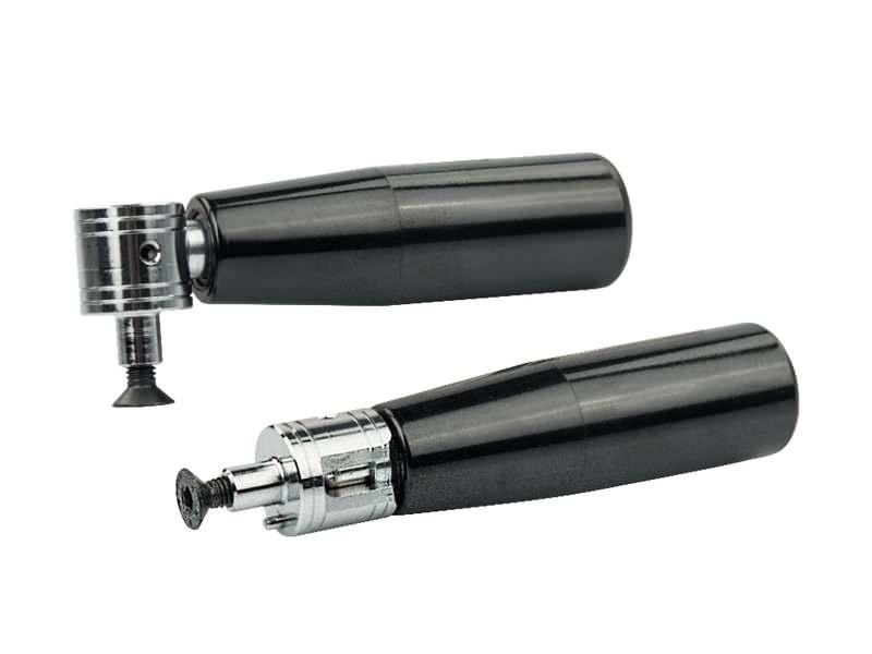 Zylindergriffe aus Duroplast, drehbar und abklappbar, Ausf. Stahl