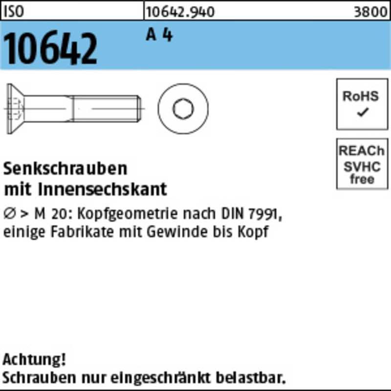 Senkschrauben mit Innensechskant  (100 St.)