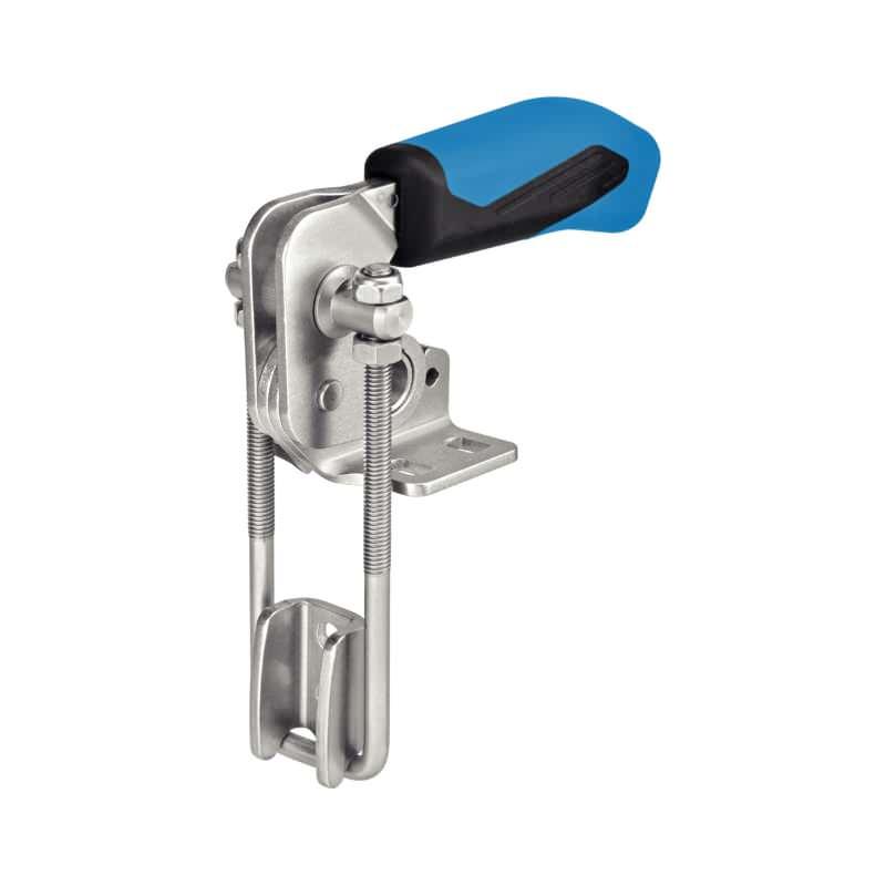 Verschlussspanner, vertikal, mit waagrechtem Fuß, Stahl