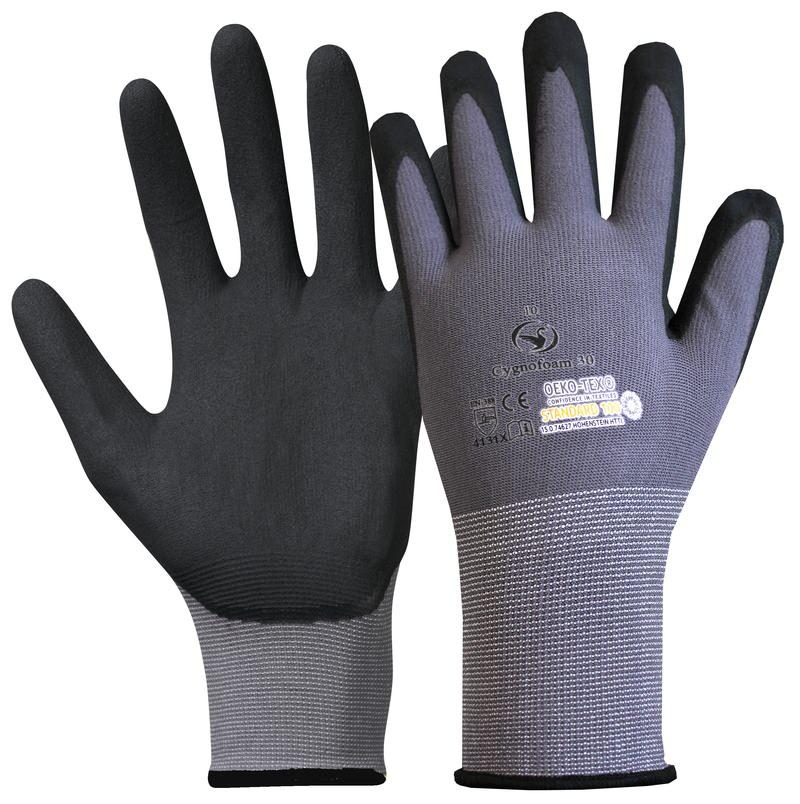 Montage-Feinstrick-Handschuh Cygnofoam 30