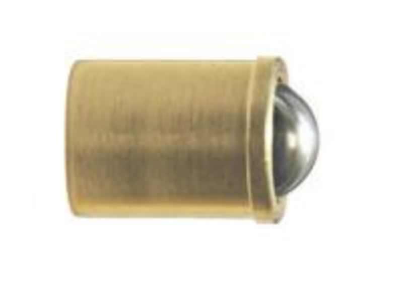 Federndes Druckstück, glatte Ausführung, Standard-Federkraft, Hülse Messing, Kugel Edelstahl, N=6-9