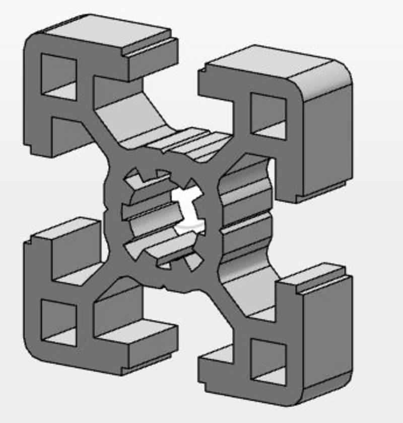 MCS-Aluminiumprofil 40x40, Länge 1000mm