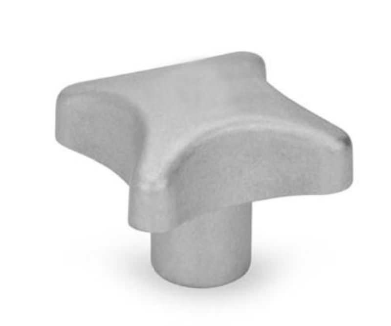 Kreuzgriffe mit Sackloch, Aluminium