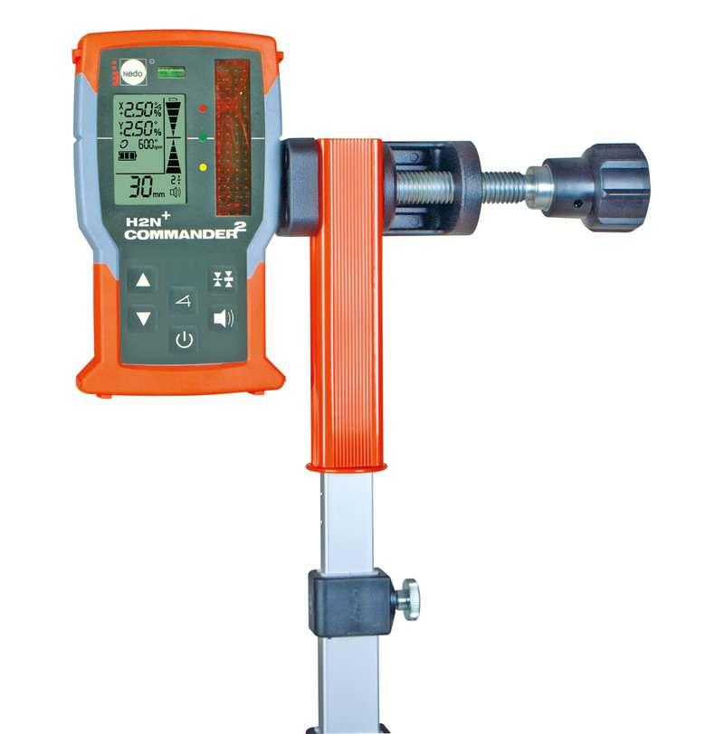 Empfängerset Laser-Messfix-S 1,37m - 5,17m / mm/cm mit Universaladapter und Hülle