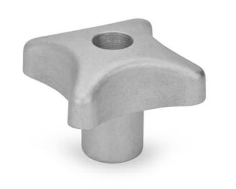 Kreuzgriffe mit Gewinde-Durchloch, Aluminium