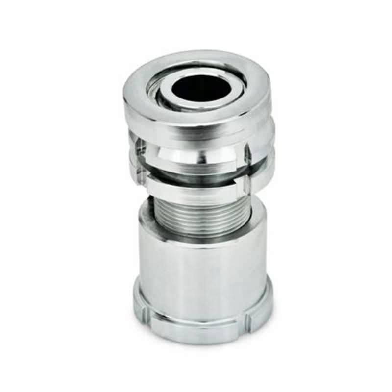 Ausgleich-Elemente mit Kugelscheibe, mit Kontermutter, Stahl