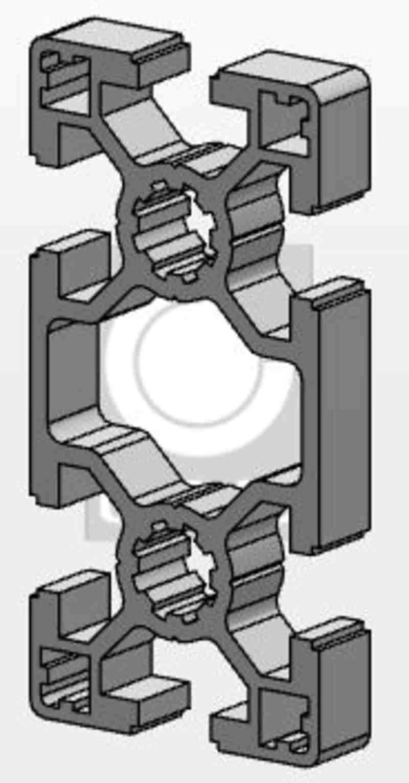 MCS-Aluminiumprofil 40x80, Länge 1000mm