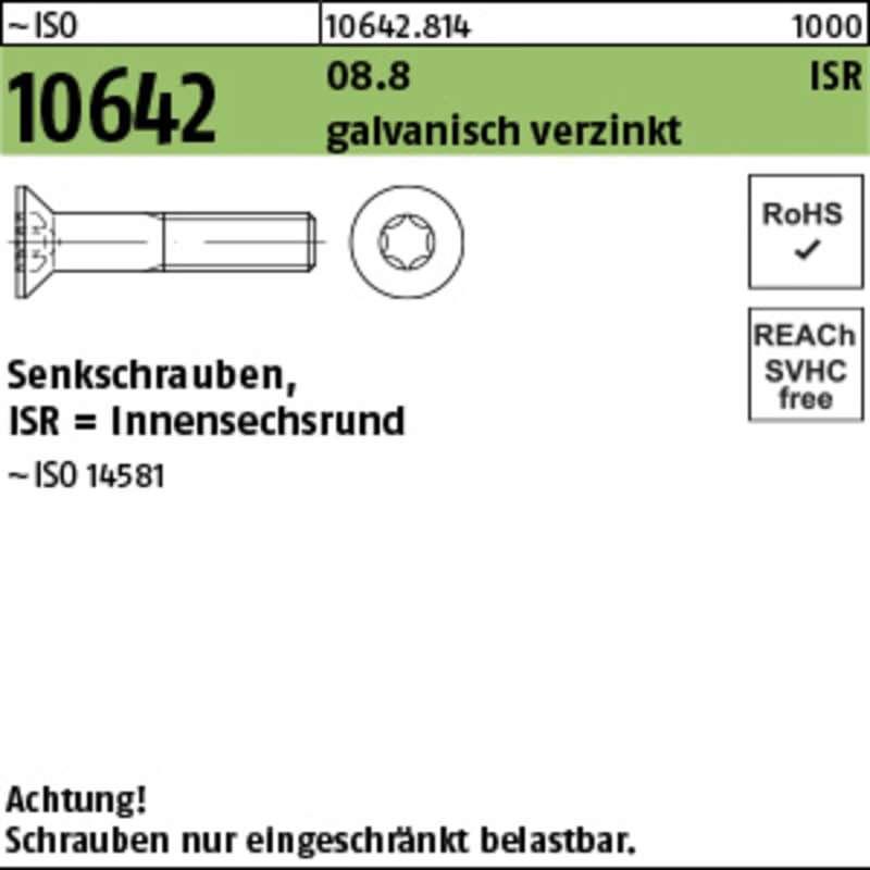 Senkschrauben mit Innensechsrund (100 St.)