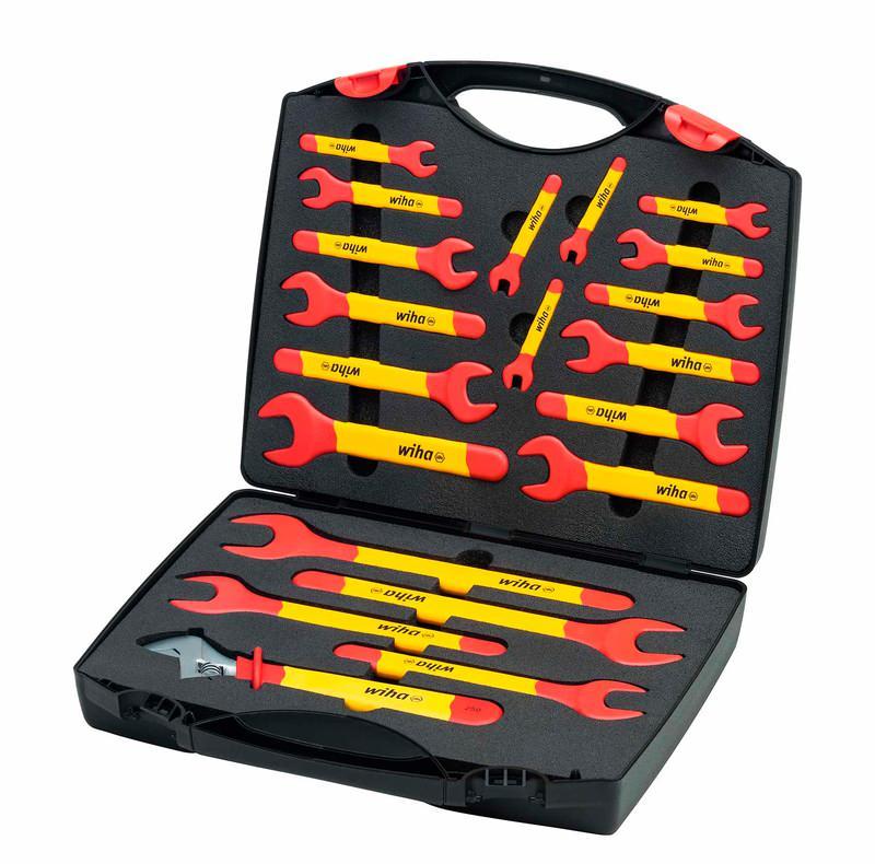 Wiha Einmaul-Gabelschlüssel Set isoliert 6-32 mm 20-tlg. in Koffer