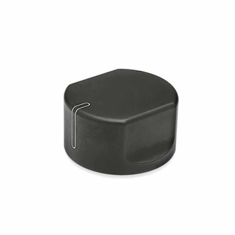 Schaltknöpfe, Aluminium, schwarz eloxiert