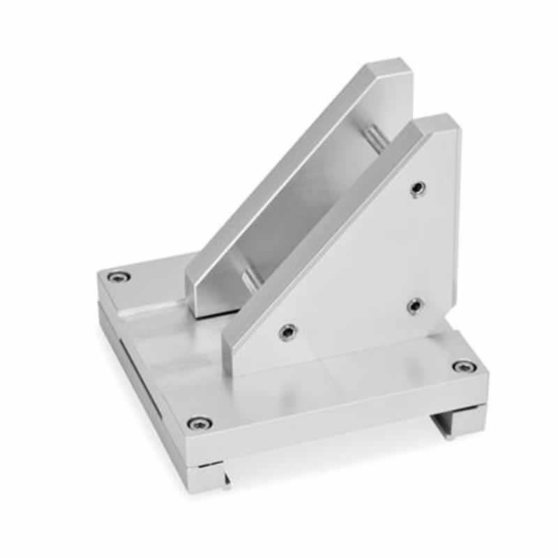 Verbindungssätze X-Z, Montage der Z-Achse über Verbindungs- und Zusatzplatte, Aluminium