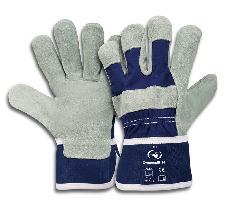 Rindspaltleder-Handschuh Cygnosplit 14, Größe 10