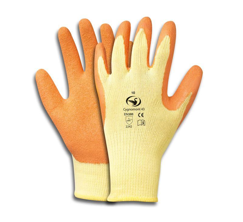 Grobstrick-Latex-Handschuh Cygnomont 43