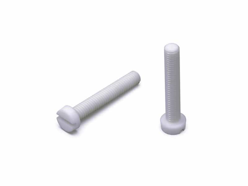 Zylinderschrauben mit Schlitz, Polyamid