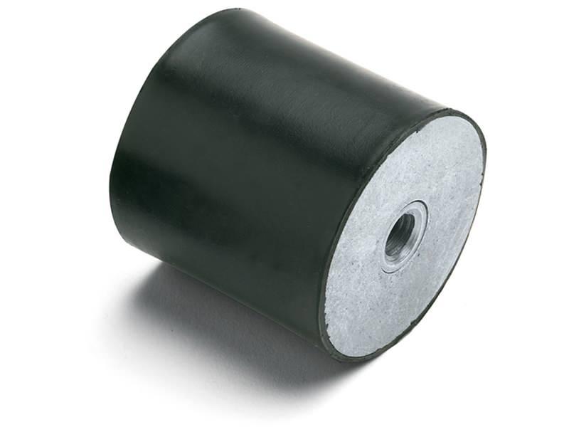 Gummi-Metall-Puffer mit beidseitigem Innengewinde