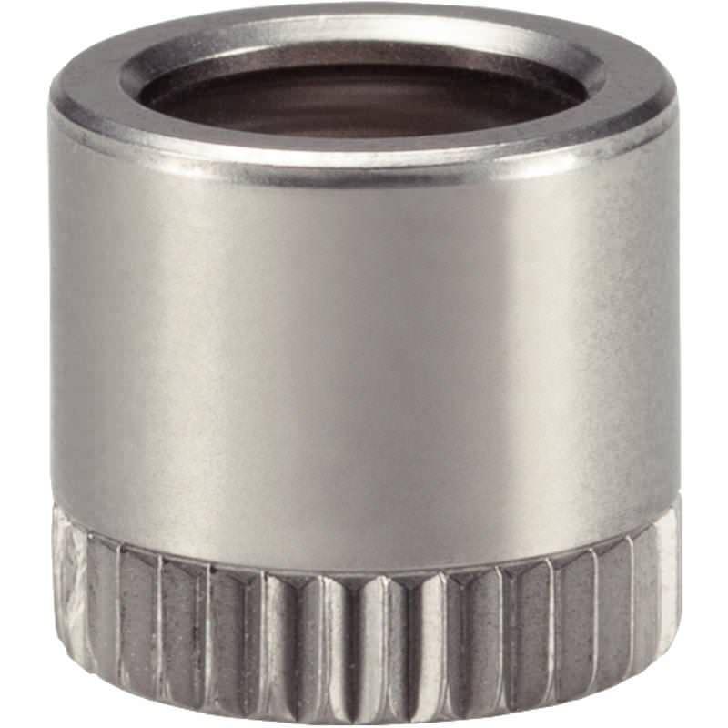Kugelverbinder-Buchse d=9,5, selbstsichernd, Montage in Holz, 360°-Funktion