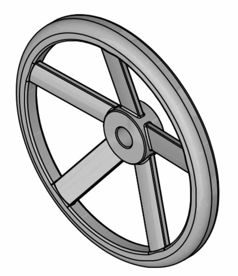Fünfspeichenhandrad, Aluminium