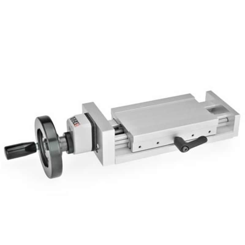 Verstellschlitten mit Handrad und digitalem Stellungsanzeiger GN 954, Aluminium