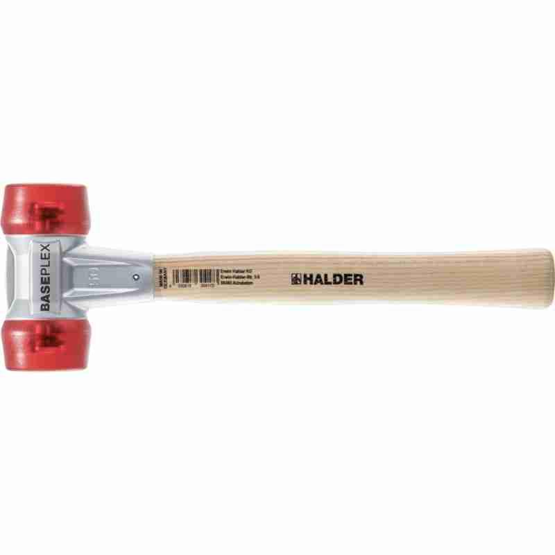 BASEPLEX-Schonhämmer, mit Zinkdruckguss-Gehäuse und Holzstiel