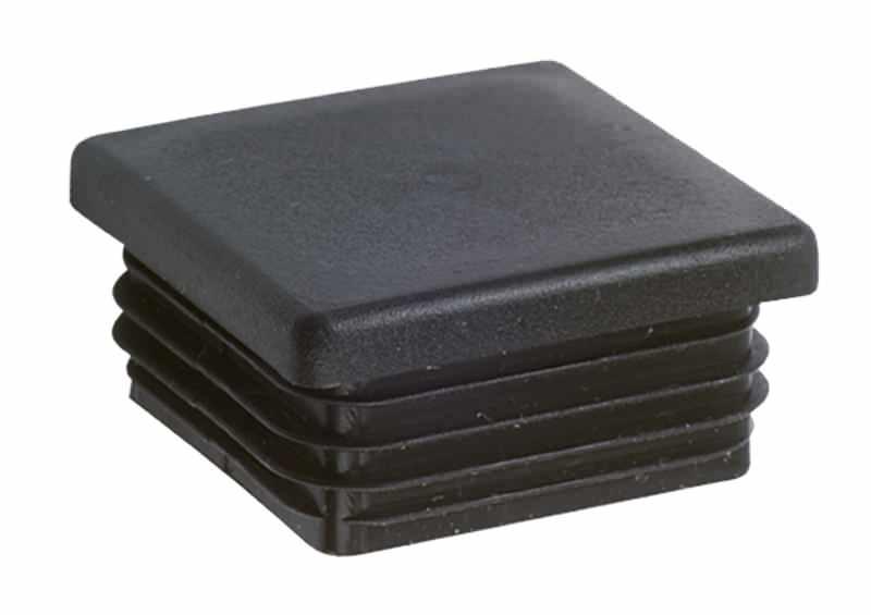 Lamellenstopfen schwarz für Vierkantrohr