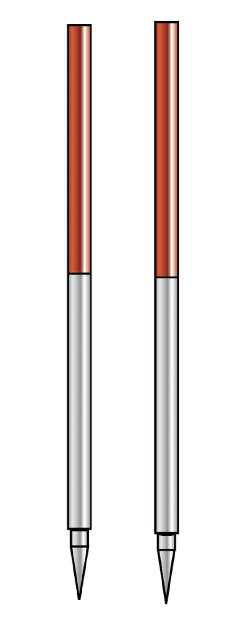 Fluchtstab zusammensteckbar, Stahl, Rohrsp.D 2,16m-St.ummant.-LF steckbar-Teil.50cm