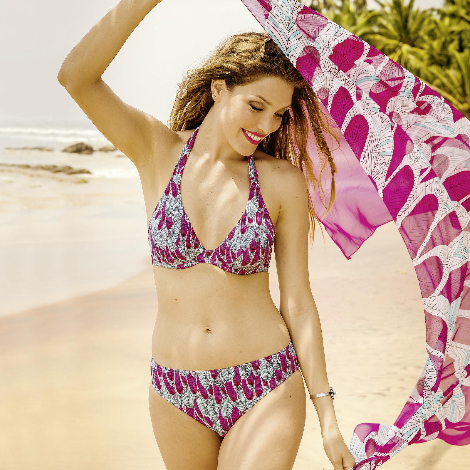 bikini rosa faia in pink gemustert bademode bikini sets. Black Bedroom Furniture Sets. Home Design Ideas