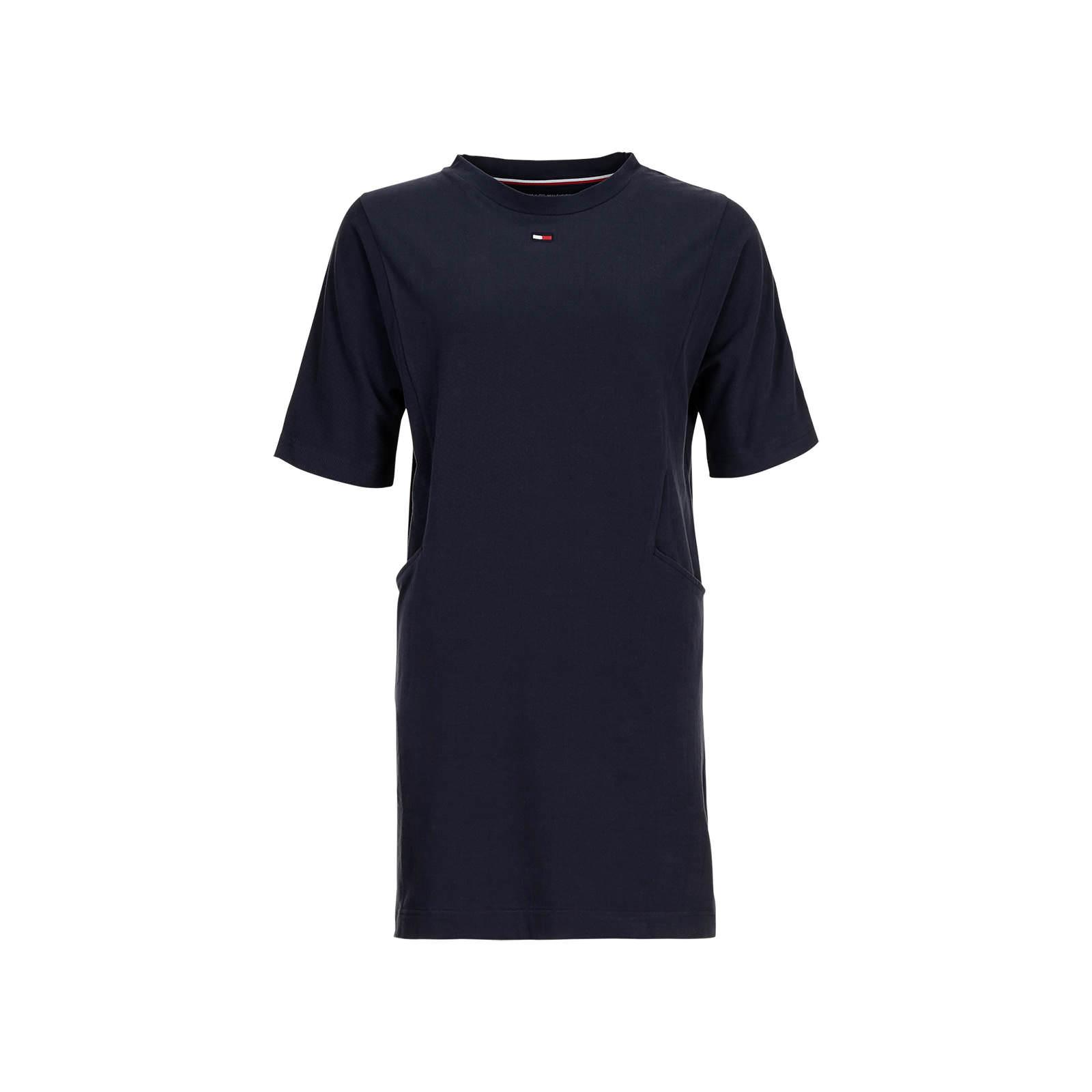 TEE LOGO FLAG Haut de pyjama blue