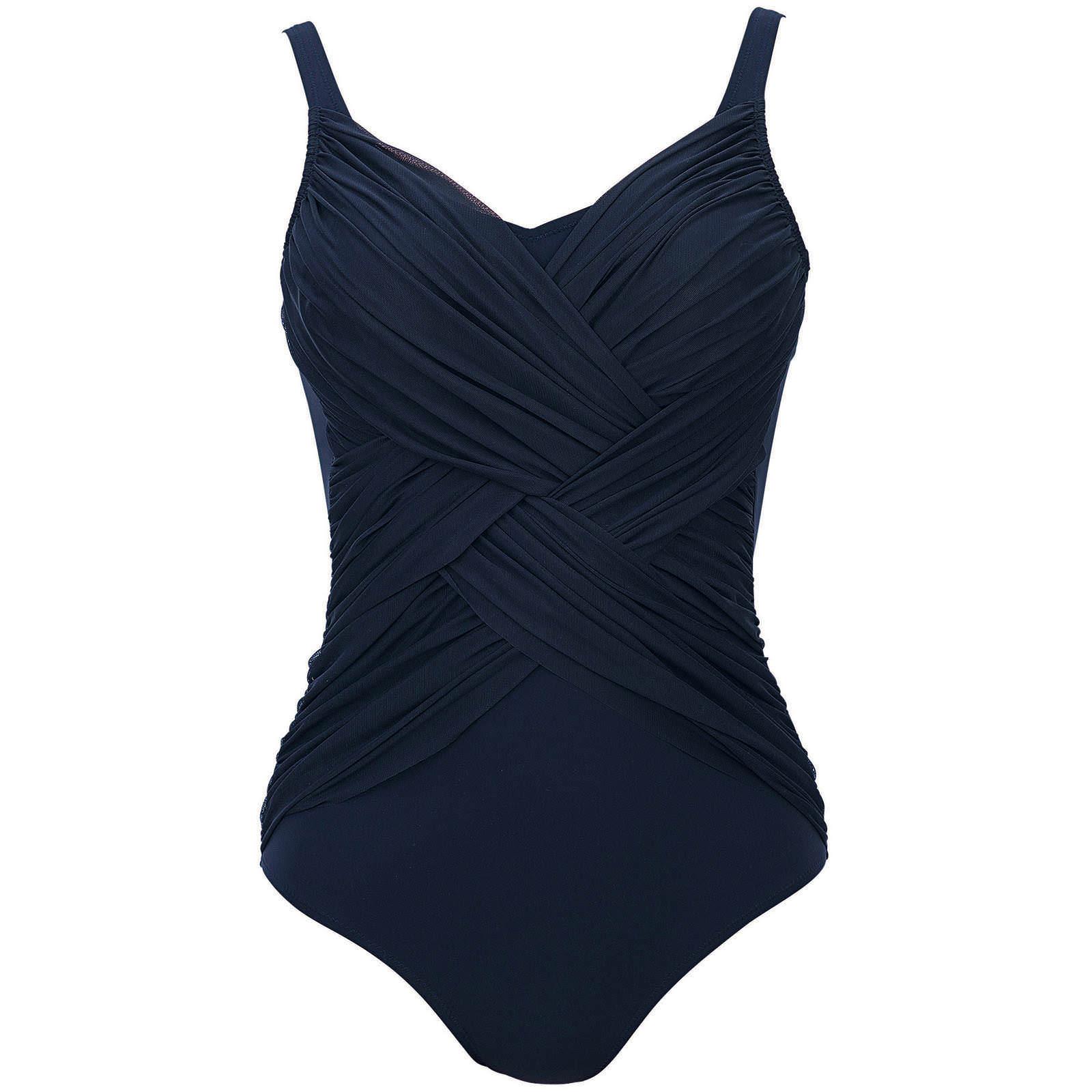 maillot de bain tropical passion in bleu fonc bademode badeanz ge schultertr ger. Black Bedroom Furniture Sets. Home Design Ideas