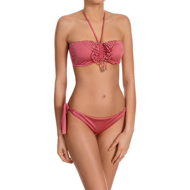 BIKINI-OBERTEIL «SHINE ON» Altrosa