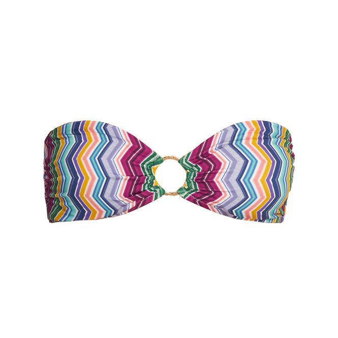 bikini oberteil betty in bunt gemustert bademode bikini top bandeau tr gerlos. Black Bedroom Furniture Sets. Home Design Ideas