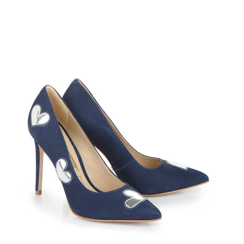 High In Mit Heels Buffalo Pumps Blau Silber Patchesamp; lFK1TJc