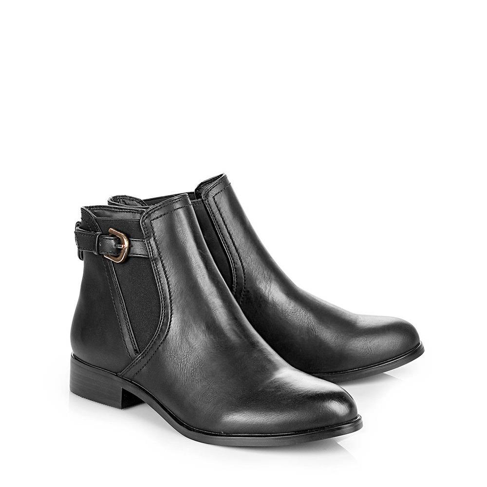 Buffalo Chelsea-Boots in schwarz mit Schnalle bei Buffalo