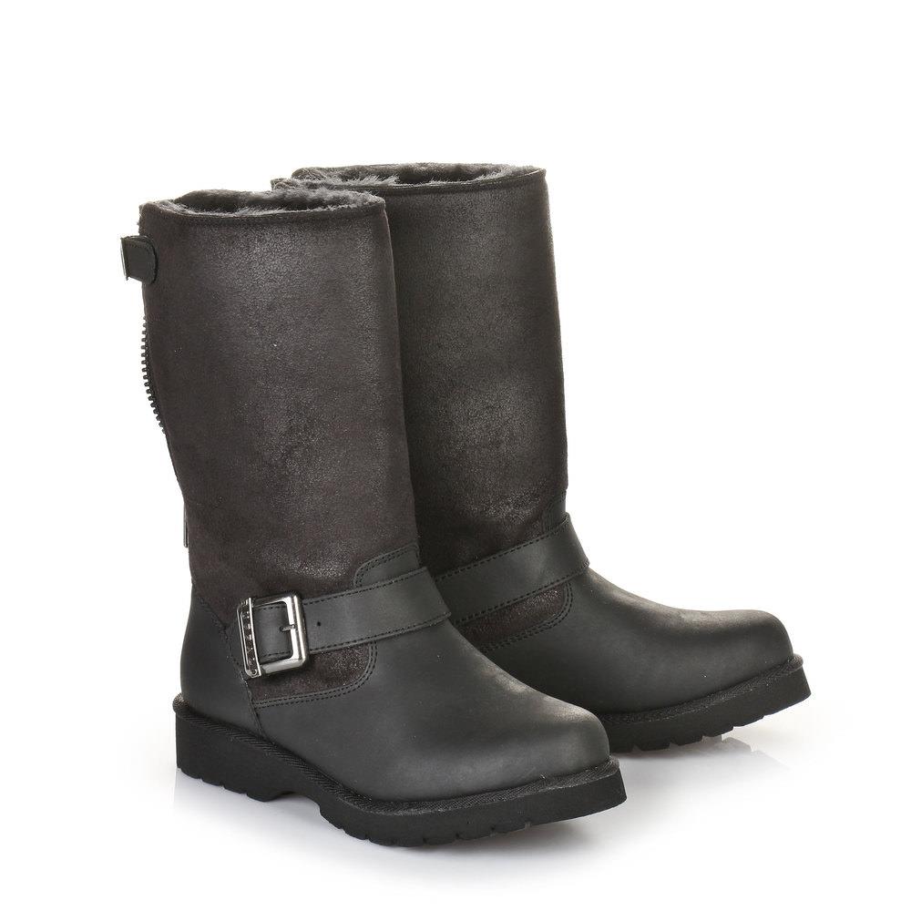 Gefütterte Buffalo Boots in schwarz