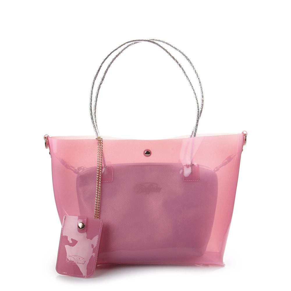 Strandtasche in rosé