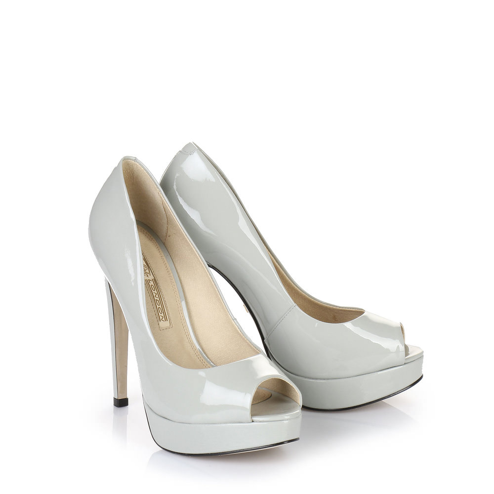 Buffalo Plateau Peep Toe in grau