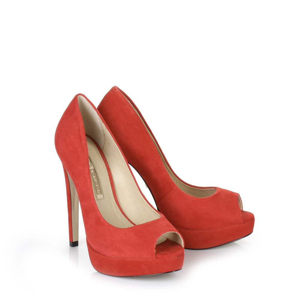 Buffalo Plateau Peep Toe in rot