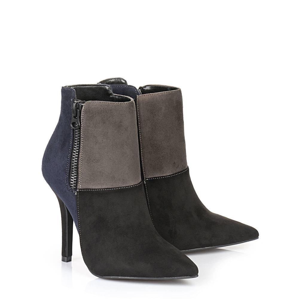 Buffalo Stiefelette in schwarz/blau/grau